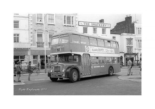 Vintage photograph Ryde Esplanade Bus Isle Of Wight