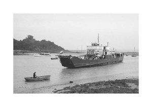 Vintage photograph MV Hilsea Isle Of Wight