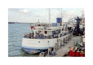 Vintage photograph MV Brading Isle Of Wight