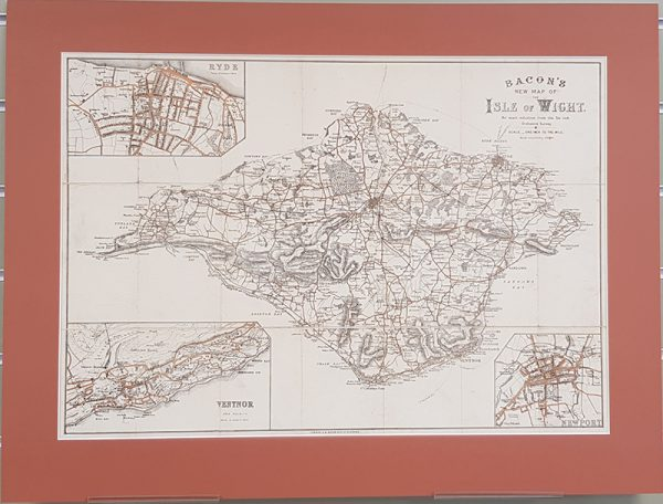 Original folding map of the Isle Of Wight