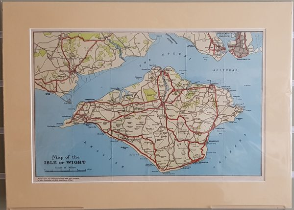 Original tourist map of the Isle Of Wight