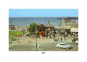 Ryde pier entrance Vintage photograph Ryde isle of wight