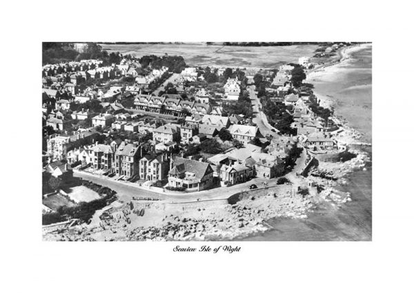Vintage photograph Seaview Isle of Wight Aerial
