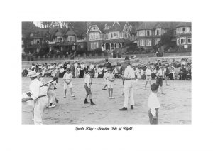 Seagrove Bay Sports Day Seaview isle of wight Vintage photograph
