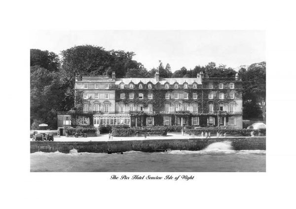 Vintage photograph The Pier hotel Seaview Isle Of wight