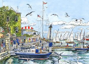 british classics at cowes sailing maria ward island artist isle of wight