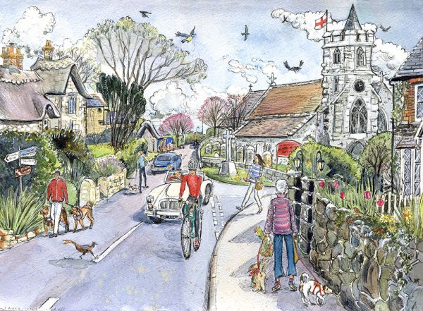 Maria ward artist Brighstone Isle Of wight Limited edition print