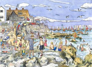 Seaview quay rocks isle of wight Maria ward artist