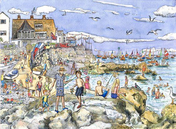 Seaview quay rocks isle of wight Maria ward artist
