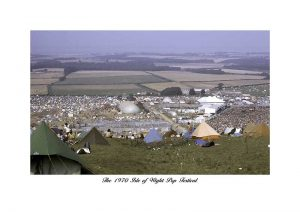 Vintage photograph Isle of wight pop festival 1970