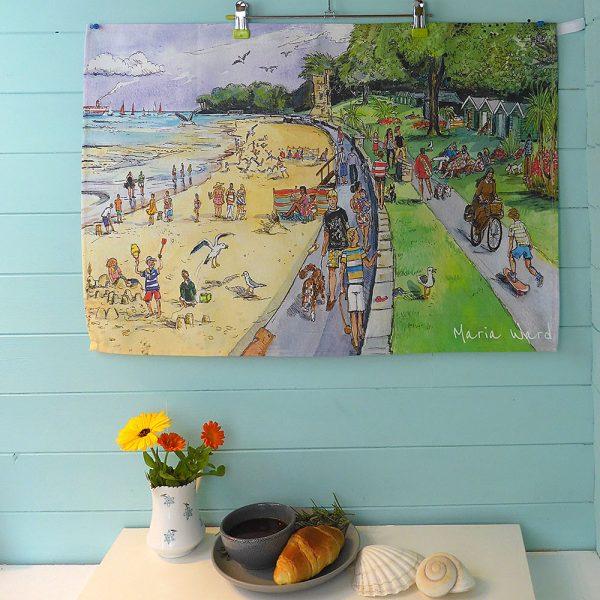 Maria ward island artist appley teatowel kitchen essentials isle of wight