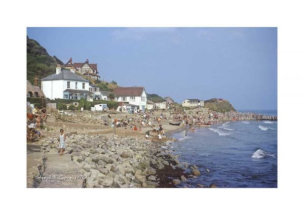 vintage photograph ventnor 1970 isle of wight steephill cove
