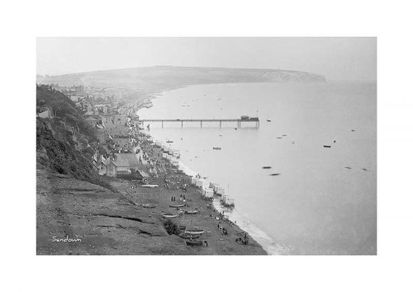 vintage photograph of sandown isle of wight sandown pier