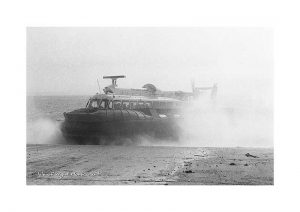 vintage photograph of the isle of wight hovercraft ryde