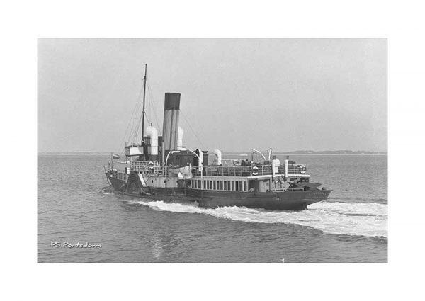 vintage photograph PS Portsdown Isle Of Wight