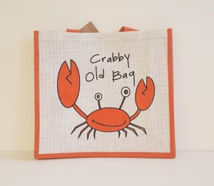 gone Crabbing Crabby old bag Beachbag