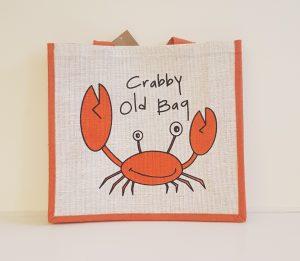 gone Crabbing Crabby old bag Beachbag