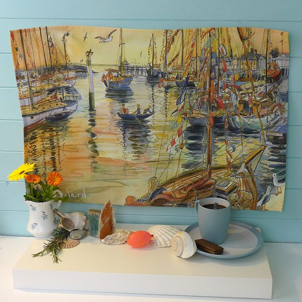 Maria ward island artist gaffers yarmouth teatowel kitchen essentials isle of wight
