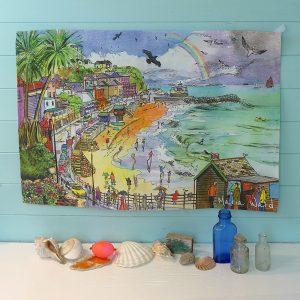 Maria Ward Artist Ventnor Teatowel Isle Of Wight