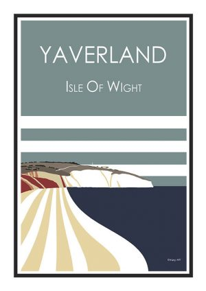 Yaverland Stripy art Travel poster Isle Of Wight Suzanne Whitmarsh