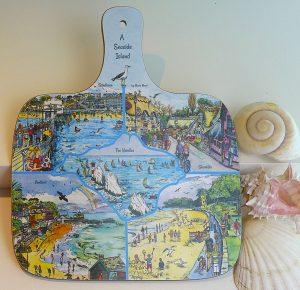 maria ward chopping board a seaside island isle of wight