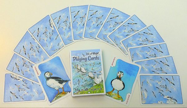 Maria ward isle of wight playing cards deck of cards island artist designs