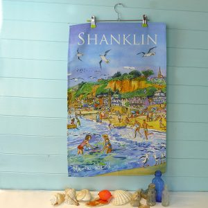 maria ward isle of wight shanklin teatowel